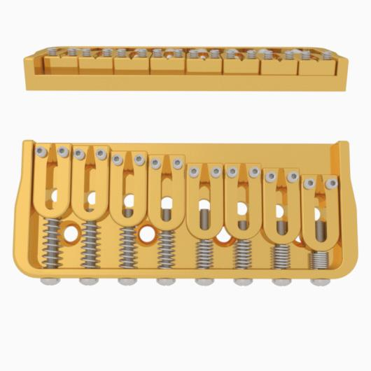 Hipshot 8 String Bridge in Gold
