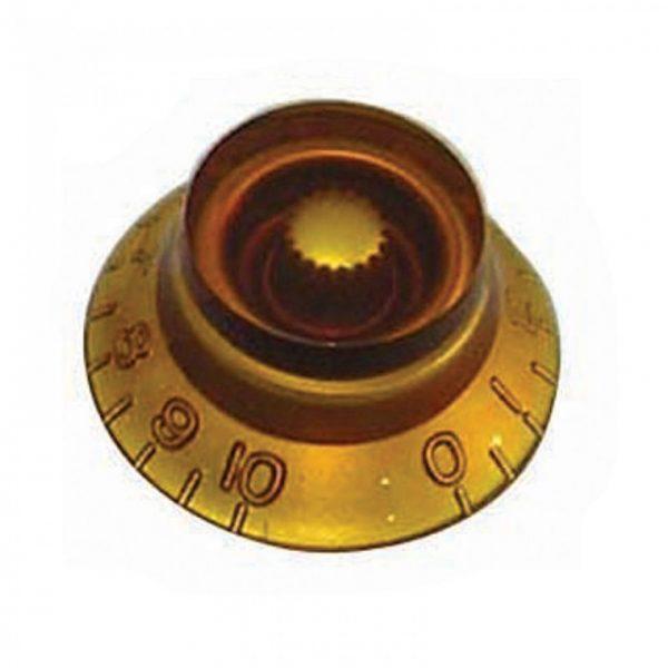 Guitar Tech Volume & Tone Control Knob in Amber