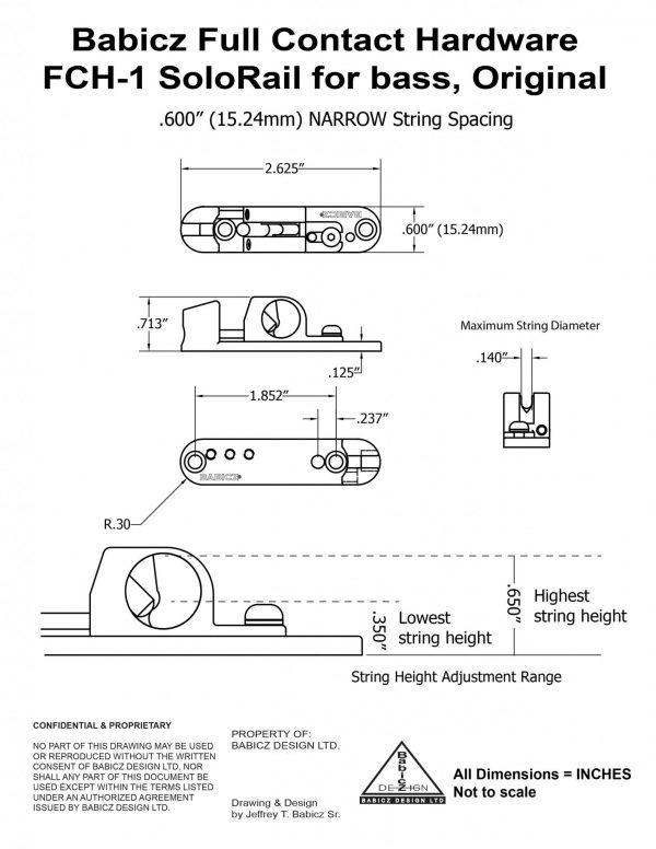 Babicz FCH Solo Rail Technical Drawing