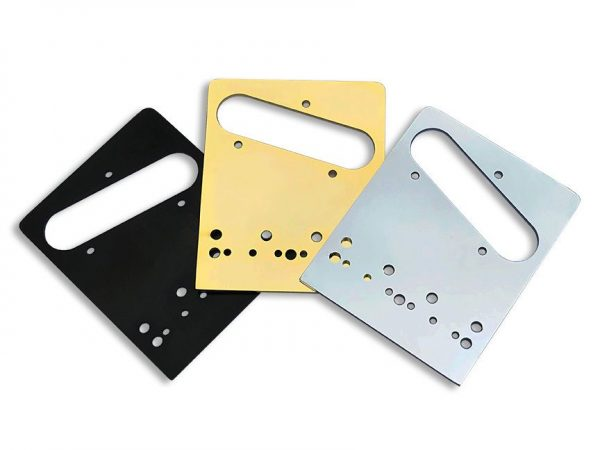 Babicz Telecaster Shim Plates in Black, Gold and Chrome finishes